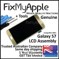 Samsung Galaxy S7 G930 OEM Gold LCD Touch Screen Digitizer Assembly Replacement