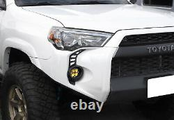 Switchback LED Fog Bezel Cover Daytime Running Lights For 2014-21 Toyota 4Runner